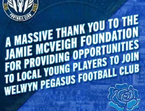 A Massive thank you from Welwyn Pegasus Football Club